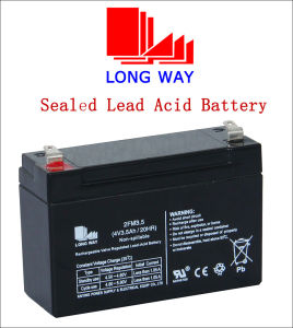 4V3.5ah Sealed Rechargeable UPS VRLA Battery pictures & photos