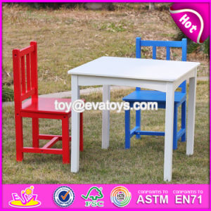 New Design Nursery School Colorful Wooden Kids Table and Chair Set W08g223 pictures & photos