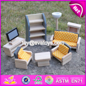New Design Children Pretend Play Wooden Dollhouse Furniture Sets W06b055 pictures & photos