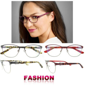 Top Fashion Acetate Full Rim Grey Latest Glasses Frames for Girls pictures & photos