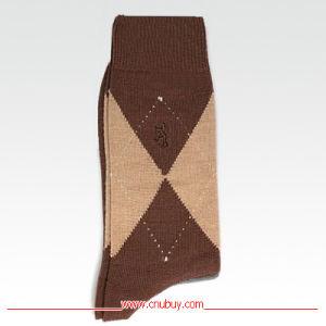 Dress Sock – Sock it to Me – Blue Grey Argyle Mustache Pattern