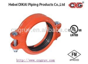 M UL Approved Grooved Rigid Coupling Ductile Iron Groove Pipe Fitting pictures & photos