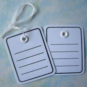 Heavy Duty Tags, Thicker Paper With Eyelet