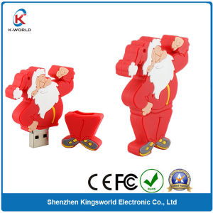 PVC 4GB Christmas Gift USB Flash Drive (KW-0208) pictures & photos