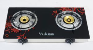 2 Burners Tempered Glass Gas Stove (YD-2GT03)