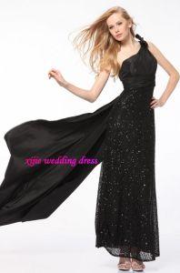 Black One-Shoulder Evening Dress/Party Dress (BE-038)
