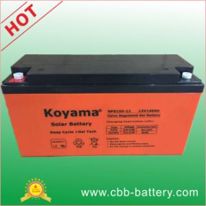 12V150ah Sealed Lead Acid Battery, UPS Battery, Rechargeable Deep Cycle Gel Solar Battery pictures & photos