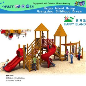 Outdoor Wooden Playground Slide for Sale (HD-5502) pictures & photos