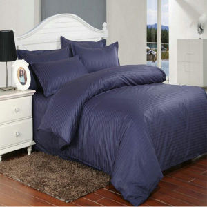 Solid Colored 1cm Satin Stripe Bedding Set in Stock Price (DPF1061) pictures & photos