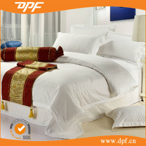 Cheapest Cotton/Poly Plain White Hotel King Size Bedding Set pictures & photos