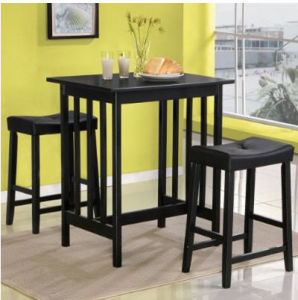 Kitchen+Dining Room Furniture   Black Bistro Set 3 Pieces (SH 148