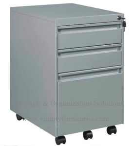 3-Drawers Mobile Filign Cabinet (SI6-LCF3B) pictures & photos
