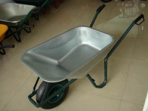 Handle Barrow Trolley Cart Wheelbarrows with Rubber Wheel Wb6414t pictures & photos