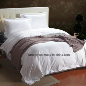 100% Cotton 300tc Plain White Textile Hotel Bedding pictures & photos