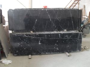 China White and Black, Nero Marquina Marble Marble Vanity Tops pictures & photos