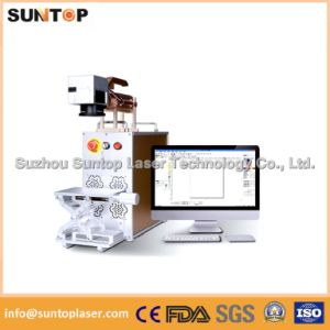 Desktop Fiber Laser Marking Machine/Mini Laser Marking Machine pictures & photos