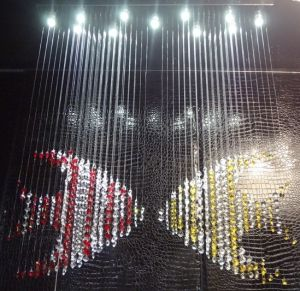 Creative Kiss Fishes LED Crystal Curtain Chandelier (GD-9049-11) pictures & photos