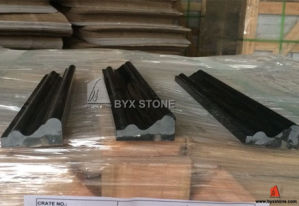 Black Marquina Marble Stone Moulding Interior Border Wall Skirting pictures & photos