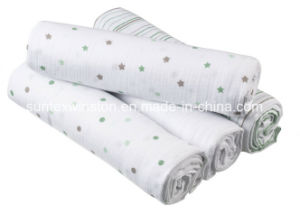 100% Cotton Baby Diaper Reusable Soft and Water-Absorbing St009 pictures & photos