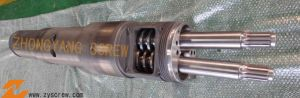 Extruder Screw Barrel / Conical Twin Screw Barrel pictures & photos