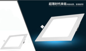 6W LED Interior Hotel Office Square Ceiling Panel Light