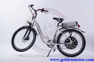 No. 1 Leisure Lady White Bike 500W -1500W with CE Proved BLDC Motor /6 Speed Tourney & Shifter System//Front & Rear Disc Brake/Pedec pictures & photos