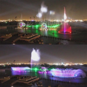 Music Fountain with Laser Water Screen Movie in Square
