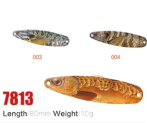 High Quality Wholesale 80mm 10g Fishing Spoon Lures pictures & photos