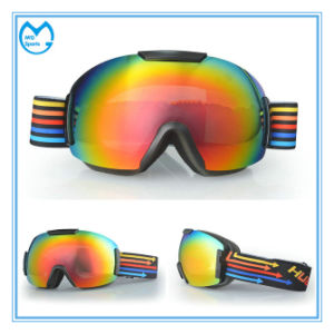OTG Skiing Equipment Protection Goggles with Wide Head Band pictures & photos
