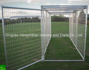 Metal Cages for Dog/Outdoor Dog Cage Round Tube Dog Cage pictures & photos
