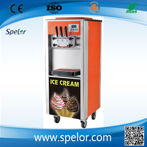 Rainbow Ice Cream Machine with Two Kinds Syrup pictures & photos