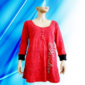 100% Cotton Lady′s Allover Print Nightdress pictures & photos