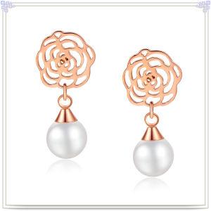 Fashion Jewellery Pearl Jewelry Stainless Steel Earring (EE0395)