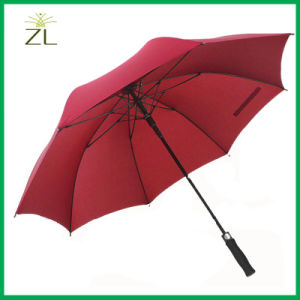 Custom High Quality Promotional Windproof Straight Umbrella pictures & photos