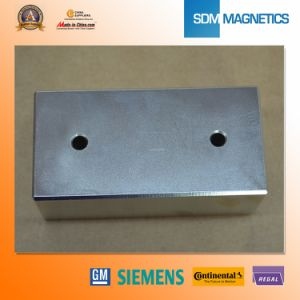 Customized Block with Hole Permanent Neodymium Magnet pictures & photos