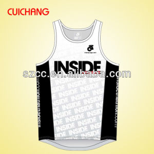 Singlet, Tank Top, Wholesale Polyester Heat Transfer Custom Design Gym Singlets Bx-044 pictures & photos