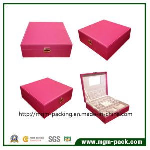 Folding Square MDF Leather Jewelry Cosmetic Box pictures & photos