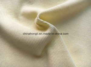 2*2 Rib, 100%Cotton, 180GSM, Solid Knitting Fabric with Good Stretch pictures & photos