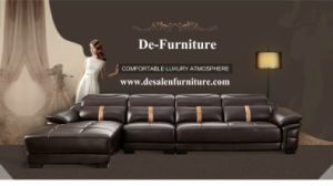 Dark Brown Color Leather Sofa, Adjustable Headrest Home Furniture (M221) pictures & photos