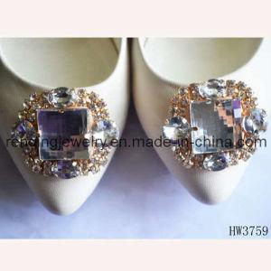 2012 Latest Glass Shoe Buckle (HW3759)