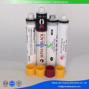 Factory Price Collapsible Blank Clear Tube Cosmetic Aluminum Tube Without Printing for Test pictures & photos
