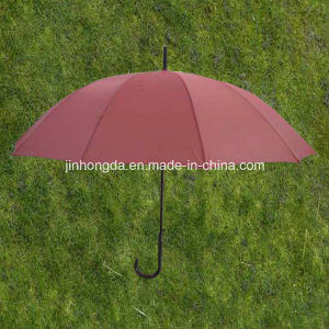 Red 12 U Ribs 23 Inches Straight Umbrella (YSS0073-4-1) pictures & photos
