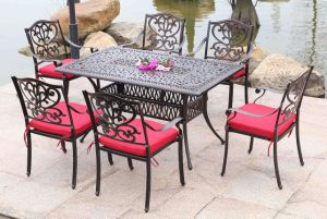 Best Choice Products 7PC Outdoor Patio Dining Table Set with Rectangle Table, 6 Chairs pictures & photos