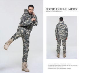Factory Fashion Warm Thicken Soft Water Proof Military Camouflage Men′s Suit Jacket pictures & photos