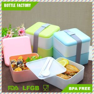 Better Life High Heat Resistance 2 Layers BPA Free Plastic Container Plastic Bento Lunch Box pictures & photos