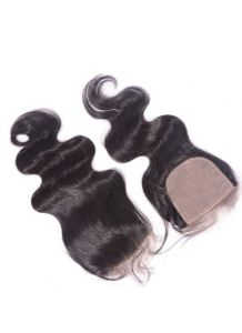 4X4 Body Wave Brazilian Virign Hair Silk Top Closure Natural Looking Silk Based Closure with Baby Hair pictures & photos