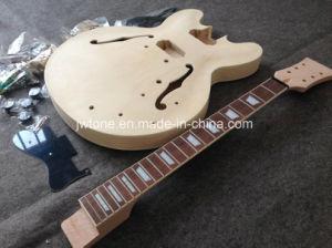 Semi Hollow Body Single Binding Lp Jazz 335 Electric Guitar Kit pictures & photos