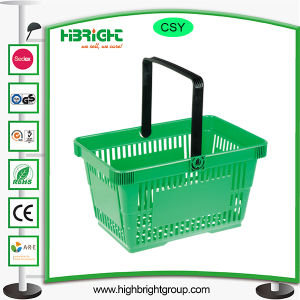 Transparent Color Plastic Shopping Basket pictures & photos