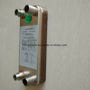 Industrial Cooling System Refrigerant to Water Copper Brazed Plate Type Heat Exchanger pictures & photos