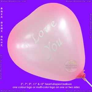 Inflatable Silk-Screen Printing Heart Shaped Balloon for Happy Birthday pictures & photos